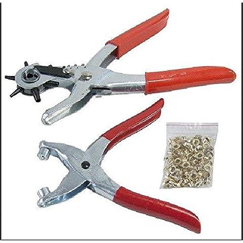 9'& Tools–Juego de sacabocados giratorio con ojales alicates agujero Heavy Duty cinturón perforadora de plástico–Reino Unido nueva Expert herramientas de reparación de herramienta de mano–Alta calidad