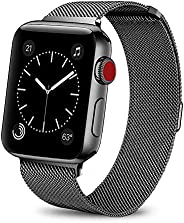 Smartwatch Bands for Apple Watch Band 42mm 44mm, Milanese Loop Band Stainless Steel Adjustable Magnetic Closur