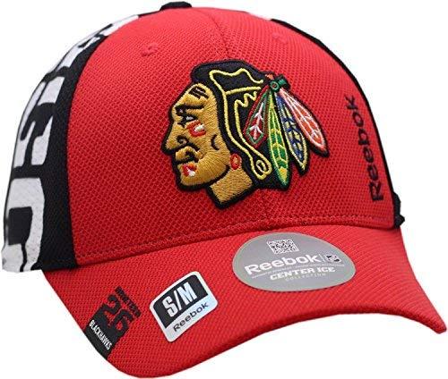 Reebok Chicago Blackhawks Hat Flex Fit Draft Structured Indian Head Logo 11901 (S/M) -