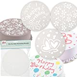 SET 3 CAKE DECORATING STENCILS 20cm BAKING BAKEWARE HOME KITCHEN ICING DECORATE