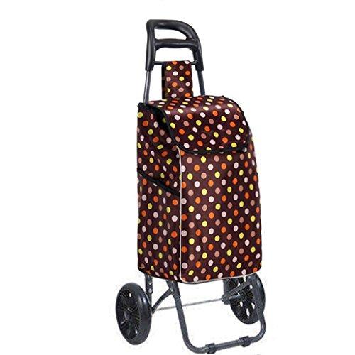 FXJ Gestapelte tragende Sitz-stoßfeste Fall-Wasserdichte Taschen PU-einzelner runder Stiller fahrbarer Wagen 75Kg Gewicht (Farbe : A)