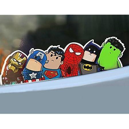 Auto Aufkleber Superhelden Sticker Bomb Comic Tuning JDM OEM