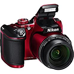Nikon COOLPIX B500 Digital Camera (Red) International Model No Warranty