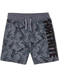 Fortnite Bañador Niño, Pantalones Cortos Niño con Estampado Camuflaje, Bermudas Niño para Playa Piscina, Bañadores Niño de Secado Rapido, Regalos para Niños y Adolescentes