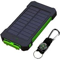 Solar Ladegerät, logicstring 30000mAh Tragbares Solar Power Bank mit 2High Speed USB-Ausgang, Externer Akku Pack Handy Ladegerät mit 50LED-Lichtern und Kompass für iPhone, Samsung Galaxy, iPad, GoPro Kamera, GPS