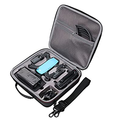 XANAD Hard Shell Case for DJI Spark Drone Waterproof Shockproof Fly More Cobo Protective Drone Organizer