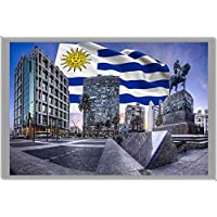MONTEVIDEO FRIDGE MAGNET, THE CAPITAL CITY OF URUGUAY CALAMITA DA FRIGO
