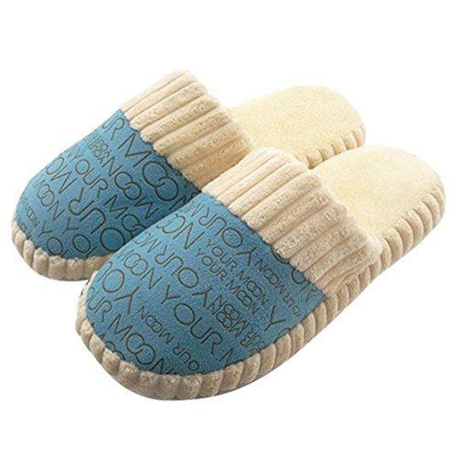 Pantofole Antiscivolo In Cotone Per Donna, Morbide E Calde, Blu