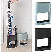 paragüero de interior con bandeja de goteo de plástico para el hogar estante de pie de paragüero para bastones de pie por yunhigh - negro