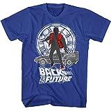 American Classics Zurück in die zukunft 1985 komödie action-film? silhouette collage T-shirt für Herren X-Groß Blau