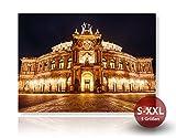 Semperoper Dresden - Fotodruck, Kunstdruck auf Forex-PVC-Platte | Hochwertiges Wandbild mit matter Beschichtung | Variante:30 cm x 45 cm