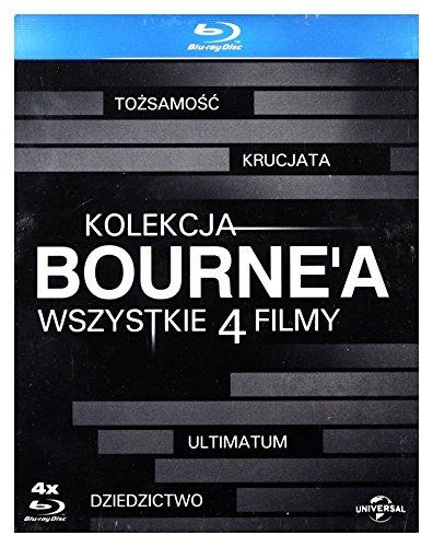 Kolekcja Bourne'a: ToĹzsamość Bourne'a/ Krucjata Bourne'a/ Ultimatum Borne'a/ Dziedzictwo Bourne'a [BOX] [4xBlu-Ray] (Keine deutsche Version) (Das Bourne Blu-ray Ultimatum)