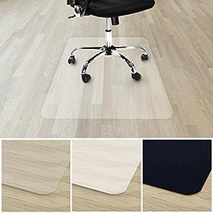 etm® Bodenschutzmatte für Hartboden   verschiedene Farben   100% ohne BPA & Phthalate - Geruchsfrei   Bürostuhlunterlage für zuhause und im Büro   viele Größen (transparent - 75x120 cm)