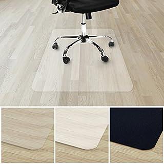 etm® Bodenschutzmatte für Hartboden 100% ohne BPA & Phthalate - Geruchsfrei | Bürostuhlunterlage für zuhause und im Büro | viele Größen (transparent - 90x120 cm)
