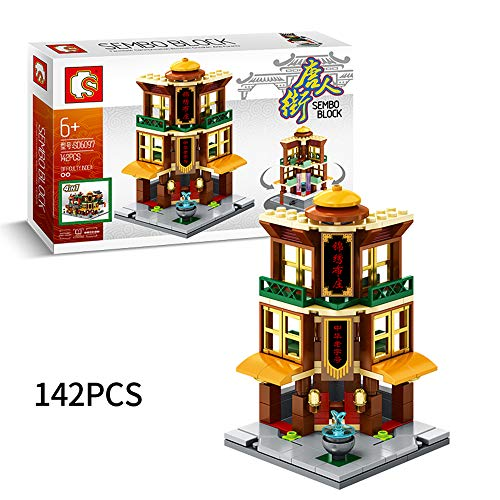 WJX Bausteine Haus Set, Building Bricks, Education Construction Engineering Building Blocks Learning for Boys & Girls, Best Kids Toy,B