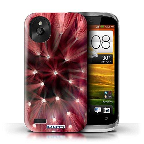 Kobalt® Imprimé Etui / Coque pour HTC Desire X / Rouge conception / Série Couleur/Lumière Fleur Rouge