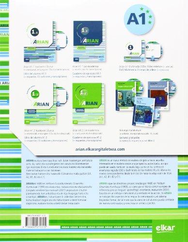 Copertina del libro Arian A1.2 Ikaslearen liburua: (Erantzunak eta transkripzioak + CD audioa)