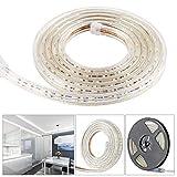 COCOMIA Led Streifen Strip Flexibel Leiste 60 LEDs/M,Lichterkette 5050 SMD IP65 Wasserdicht, LED Kette für DIY Dekoration von Urlaub, Haus, Küche, Garten, Bar, Party (5M Kaltweiß …)