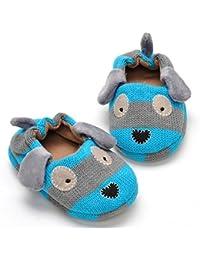 Goodid zapatilla de casa con suela de goma antideslizante con forma perrito para niños