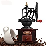 HITSAN Manual With Ceramic Movement Retro Wooden Coffee Tools Classical Hand Coffee Mill Grinder Coffee Machin Kitchen Tools