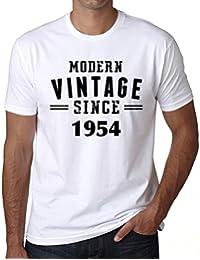 1954, Modern Vintage, regalo cumpleaños hombre, camisetas hombre cumpleaños, moderno vendimia camiseta hombre, camiseta regalo, regalo hombre