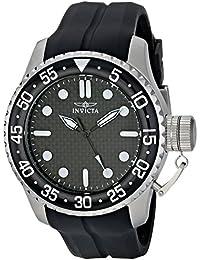Invicta Herren-Armbanduhr 50mm Armband Kautschuk Schwarz Gehäuse Edelstahl Quarz Analog 17510SYB