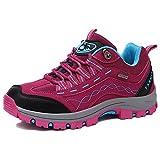KAMIXIN Scarpe da Escursionismo Donna Scarpe da Trekking All'aperto Sneakers Scarpe da Arrampicata Stivali da Escursionismo Uomo Calzature da Escursionismo Rosa 38EU