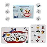 Super tooth Educational Board Games for Toddlers - Learning Board Game for 3 4 5 6 7 8 year olds Learn Shapes, Enhance Memory Skills with Early Learning Goals, Game for Kids. Educational toys for development.