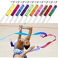10 x Gimnasta Listones Rítmica Dance Transmisión Vara Porra Giratorio Arte Gimnasio Fitness Cinta de Trimming Shop