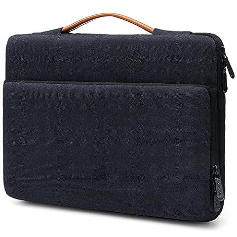 Tomtoc Microsoft Surface Pro 4/3/2/1 Schutzhülle Schutztasche tragbare Tasche für die meisten 11.6 Zoll Laptops Ultrabooks Netbooks Tablets, spritzwassergeschützt, schwarz-blau