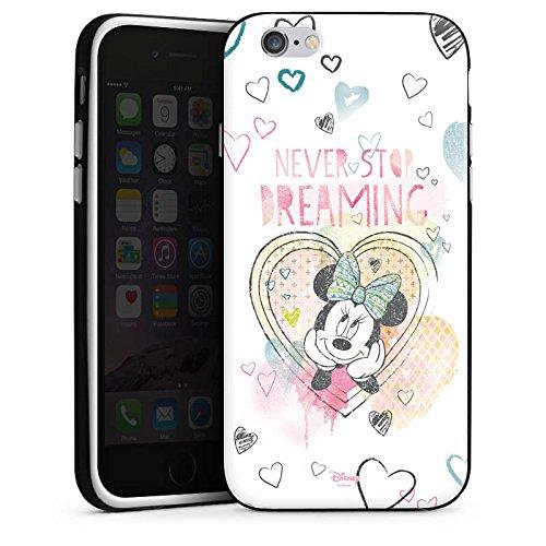 Apple iPhone 7 Plus Tasche Hülle Flip Case Disney Minnie Mouse Fanartikel Geschenke Silikon Case schwarz / weiß