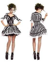 a3de29022caa CWZJ in Bianco E Nero A Strisce Fantasma Sposa Costume Vampiro Cavaliere  Costume Zombie Cosplay Costume