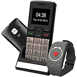 Mobiho-Essentiel Le CLASSIC TOP + MONTRE SOS - Téléphone portable senior . en utilisation classique ou en utilisation SOS seule, un mobile très complet et très pratique dédié au senior ayant un handicap préhension - DEBLOQUE TOUT OPERATEUR