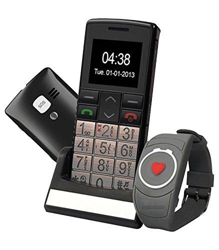 Mobiho-Essentiel Le CLASSIC TOP + MONTRE SOS - Seniors - MONTRE ET BOUTON SOS - Grosses touches - Chiffres écrits en gros sur l'écran - Numérotation rapide raccourcis d'appels touches 2 à 9 - un son jusqu'à 80db - Base de chargement - Bluetooth - Appareil photo & vidéo - Sms - Lampe - Blocage facile clavier - Débloqué tous opérateurs, etc...