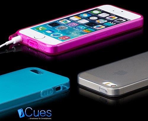 Apple iPhone SE / 5S / 5 | Case iCues TPU Matt Rose obturé | [Protecteur d'écran, y compris] protecteur de feuille transparente Temps clair de gel de silicone Housse étui de protection couverture Coqu MATT Pink
