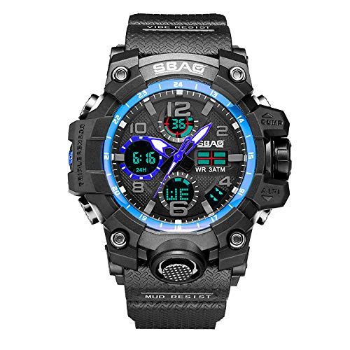 7cc8a038d796 Hupoop Sbao Sport Watch Uomo Digital Led Electronic Orologi Da Polso Al  Quarzo Tpu (B