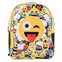 Emoji 1029HV-6586 Emoji-31cm Junior Backpack, Yellow Black