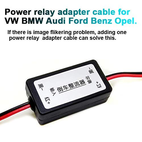 Adapterkabel Relay Relai car Camera Rückfahrkamera Filter Signalfilter für VW BMW Mercedes Opel Audi