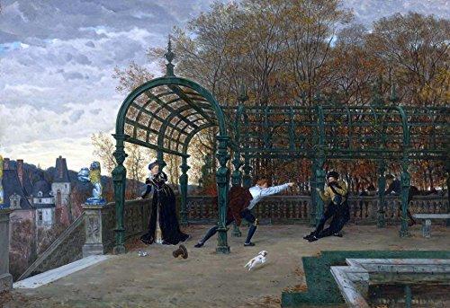 16 x 27,94 cm OdsanArt Art Nouveau Landscapes' la dAAEnlAA intento de secuestro-exprímete Póster de vement artstore ' Diseño de James Tissot