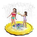 Instag Sprinkle und Splash Mat Sommerspray Spielzeug Wasserspiel Spielzeug für Garten Rasen Kinder Kleinkinder im Freien Wasser Pad Aufblasbares Becken Schwimmparty Strand Wasser Sprinkler Pad,170cm