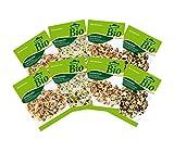Dehner Bio Keimsprossen, je 2 x 4 Sorten, Fitness-, Gourmet-, Pikant-Aromatisch und Wellness Mischung