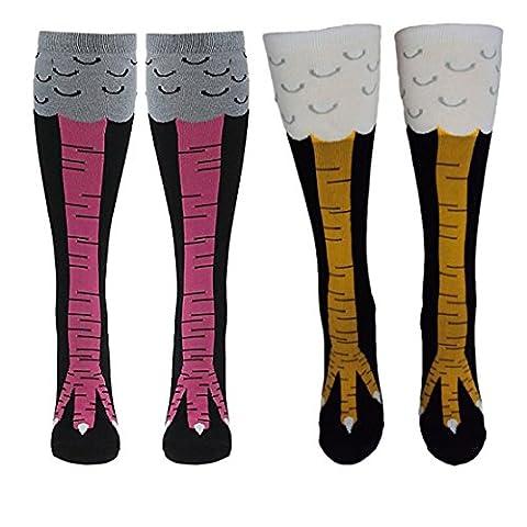 Esenfa Chicken Legs Knee-High Socks Fitness Novelty Cosplay Stockings 2