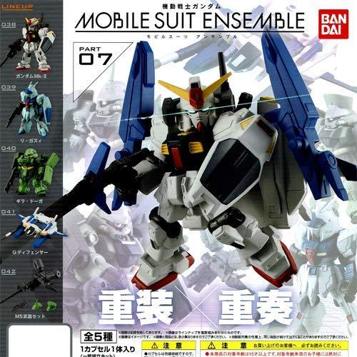 BANDAI Gundam MOBILE SUIT ENSEMBLE 07 Gashapon 5 set mini Figure capsule toys (Bandai Gundam Mini)