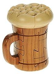 Idea Regalo - Pinta di birra : Puzzle Legno 3D : Rompicapo Adulti Bambini : Idea Del Regalo di Natale o di Compleanno : Dimensioni 14 x 11cm