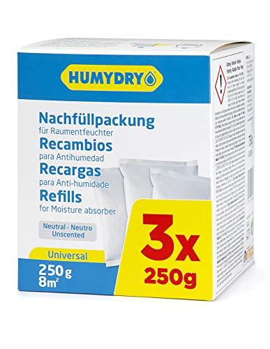 HUMYDRY - Recambios antihumedad 3x250g