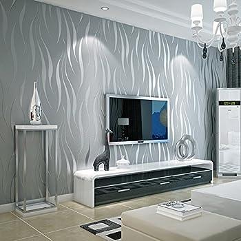 Wallpaper Moderne einfache Streifen-Vlies-Tapete-Kurven