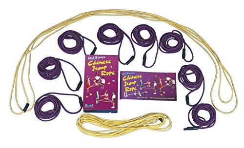 melaimee 5chinesischer klein Springseil Loops, 8'Größe, Violett (6Stück)