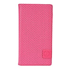 Jo Jo Cover Big Bang Series Leather Pouch Flip Case For XOLO A550S IPS Pink Blue