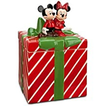 Mickey and Minnie Mouse Christmas Holiday Cookie Jar by Disney by Disney