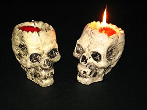 Blutender Totenschädel Kerze Halloween Dekoration Totenkopf